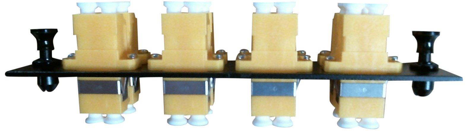 Hubbell HUBFSPLCDM8Y Adapter Panel, 16-Fiber, 8 LC Duplex, Phosphor Bronze, Yellow