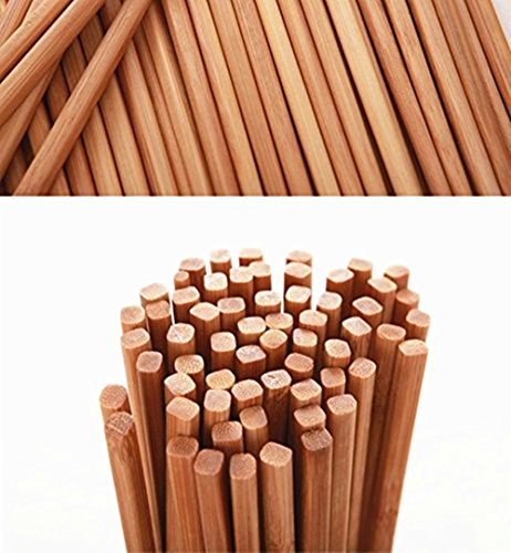 Authentic Chinese Natural Bamboo Hot Pot Chopsticks 10 Pairs Gift Sets 27cm Long Brown Lightweight (Packing May