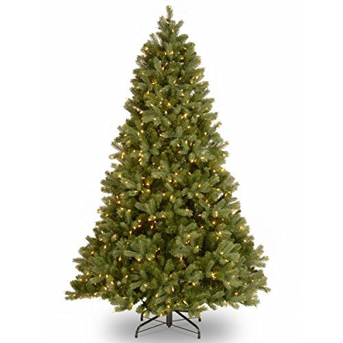 "National Tree 6.5 Foot ""Feel-Real"" Downswept Douglas Fir Tree with 650 Clear Lights, Hinged (PEDD1-312-65)"