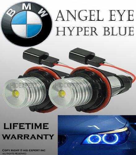 ICBEAMER BMW E39 E53 E60 E61 E63 E64 E65 E66 E87 LED 12V 6W Blue Angel Eyes Halo Light Bulbs Lamps [Pack of 2 pcs] (Bulb Bmw 525i)