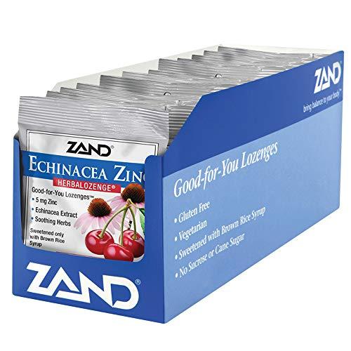 ZAND Herbalozenge Lozenges, Echinacea Zinc, Natural Cherry Flavor,  12- 15 lozenge bags (180 Lozenges) ()