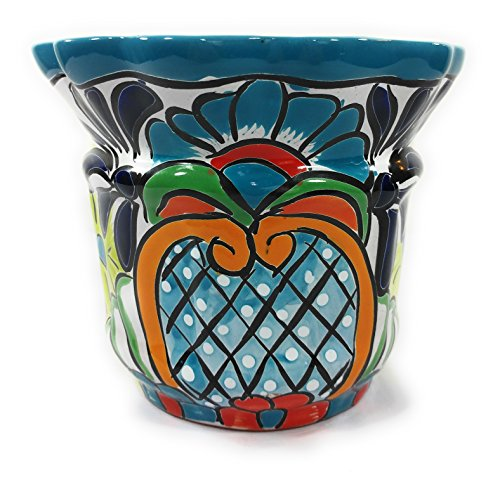 (Authentic Mexican Indoor & Outdoor Pottery- Medium Pineapple Planter)
