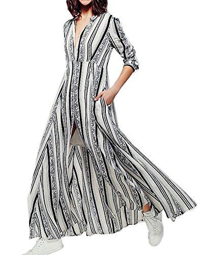ZERAO Damen Partykleid Maxi Cocktailkleider Kleider lang ABENDMODE ...