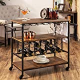 Best Choice Products 45in Industrial Wood Shelf Bar