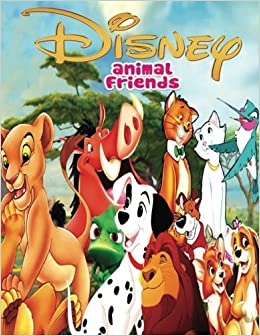 Amazon Disney Animal Friends This A4 85 Page Colouring Book Has Cute And Cuddly Images Of Characters From Films Such As The Lion King Jungle