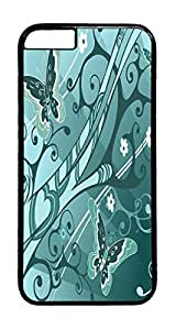 Butterfly Blues PC Case Cover for iphone 6 4.7inch - Black