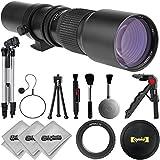 Opteka 420-800mm Telephoto Zoom Sports & Wild Life Lens w/ 20PC Bundle for Canon EOS 80D, 77D, 70D, 60D, 7D, 6D, 5D, 7D Mark II, T7i, T6s, T6i, T6, T5i, T5, SL1 & SL2 Digital SLR Cameras