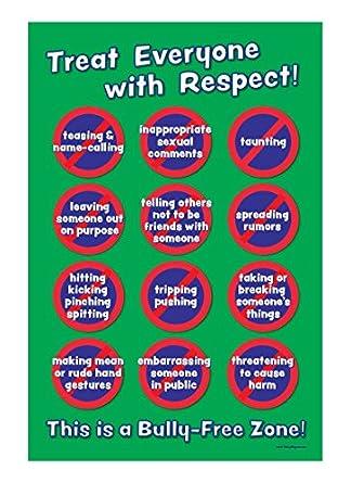 amazon com bully free zone no bullying classroom poster non