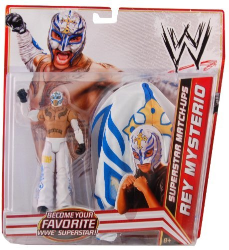 Mattel WWE Wrestling Exclusive Superstar MatchUps Action Figure Mask Rey Mysterio White Pants ()