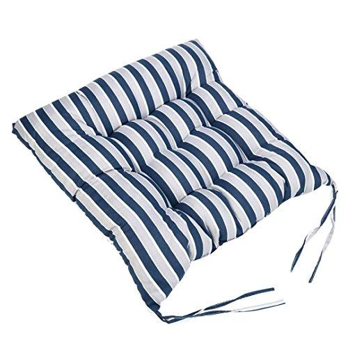 Pad Garden Chair (Sothread Soft Striped Chair Cushion Indoor/Outdoor Garden Patio Home Kitchen Office Sofa Seat Pad (E))