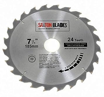 Tct18524t Saxton TCT Bois Lame de scie circulaire 185 mm x 30 mm x Alésage X dfd40ee557b0