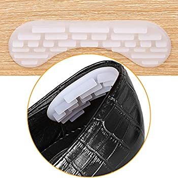 4D Heel Cushions Inserts, Heel Grips Liner for Loose Shoes, Improved Too Big Shoe Fit and Comfort, Self-Adhesive Heel Pads for Women Men (2 Pairs)
