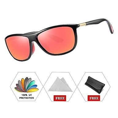 e76af42b6e ATNKE Retro Sport Polarised Sunglasses for Men Women Outdoor Cycling  Driving Designer with Case Black