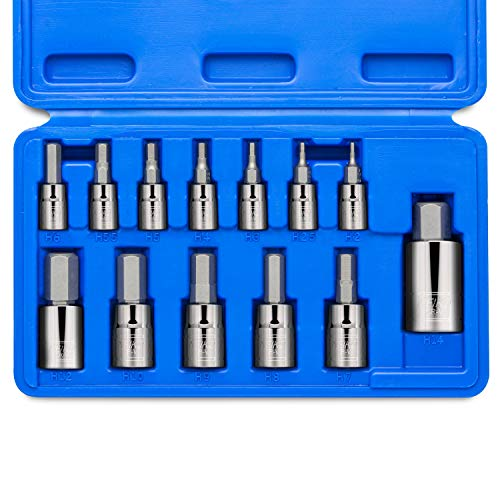 Neiko 10074A Hex Bit Socket Set, S2 Steel | 13-Piece Set | Metric ()
