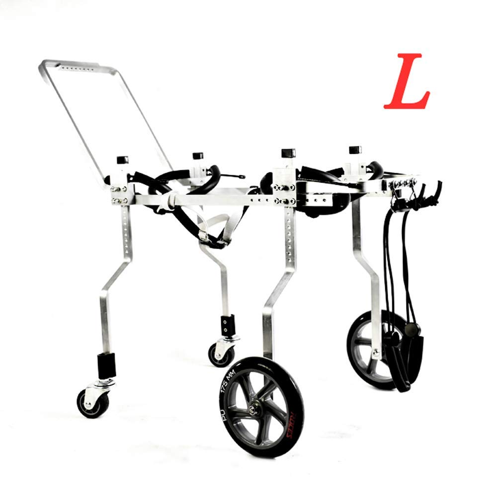 L-01 LLG-CWLY Dog Wheelchair, Pet Moped, Dog Auxiliary Hind Leg Exerciser, Dog Cat, Large, Small Dog, Adjustable, Multiple Sizes (Size   L-01)