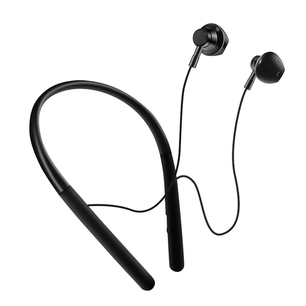 Bluetooth Headphones, Wireless Sport Earphones Bluetooth 5.0, HiFi Bass Stereo Sweatproof Earbuds w Mic, Noise Cancelling Headset for Workout, Running, Cycling