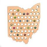 KAVANI Ohio Beer Wood Cap Map for Home Decor - Bottle Caps Collector