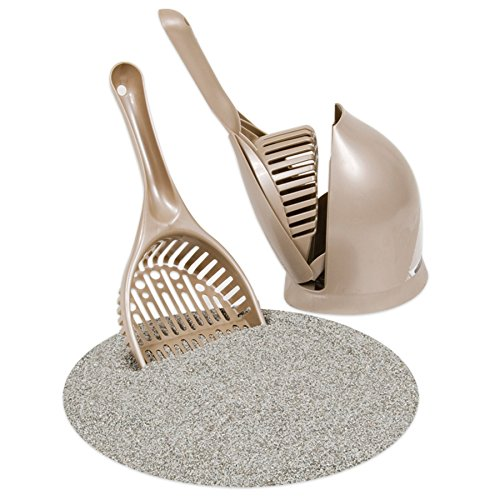 Petmate Boode Scoop'N Hide Deep-Bucket Cat Litter Scoop Built-In Rake 3 Colors
