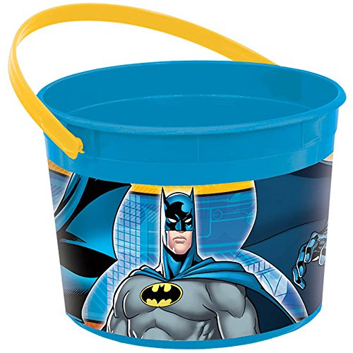 Amscan Awesome Batman Birthday Party Plastic Favor Container, 1/4