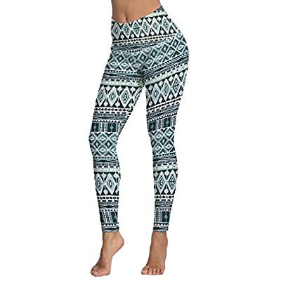 Women's Printed High Waist Leggings Full-Length Yoga Thin Capris Pants S