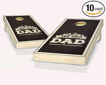 Amazon.com: Skip s Garage Best Dad - Juego de 2 tablas de ...