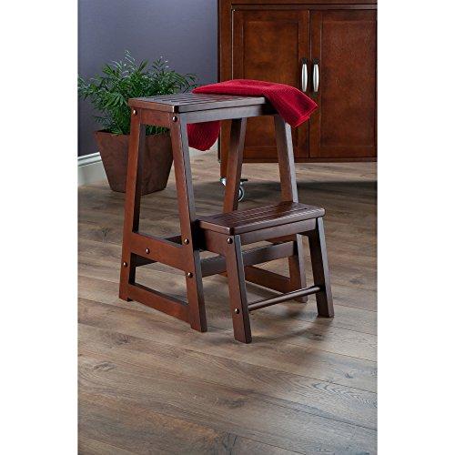 Step Stool For High Reach Kitchen Cabinet Closet Antique