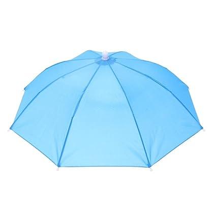 cc0e4e643c8ef Zibuyu Head Umbrella Anti-Rain Fishing Anti-Sun Umbrella Hat Adults  Supplies(B