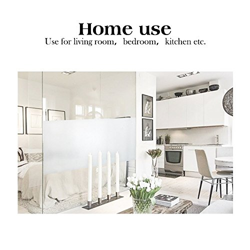 RABBITGOO No Glue Static Cling Privacy Window Film 35.4-by-78.7-Inch Frosted Films UV Protection Window Sticker Office Home Bathroom Living Room Kitchen White Frosted Glass Window Film by RABBITGOO (Image #6)