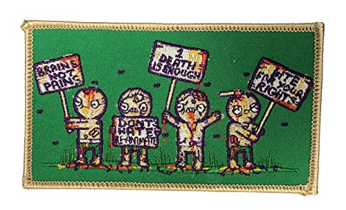 """Randy Otter """"Zombie Protest"""" Funny TV Show Popculture Joke Iron On Patch"""