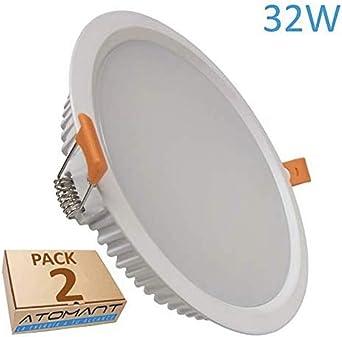 Pack 2x Panel Downlight LED redondo 32w, corte 205mm (standard ...