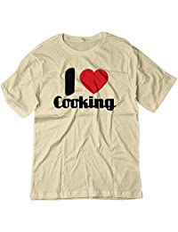 BSW Men's I Love Cooking Heart Shirt
