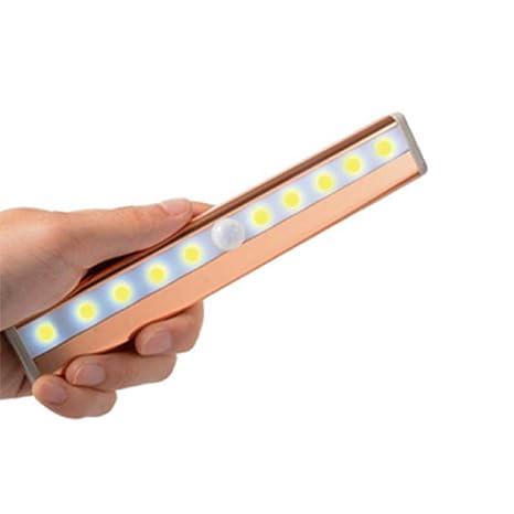 aquiver movimiento Sensor armario luz, 10 LED Gabinete Luz inalámbrica PIR Sensor de movimiento luz