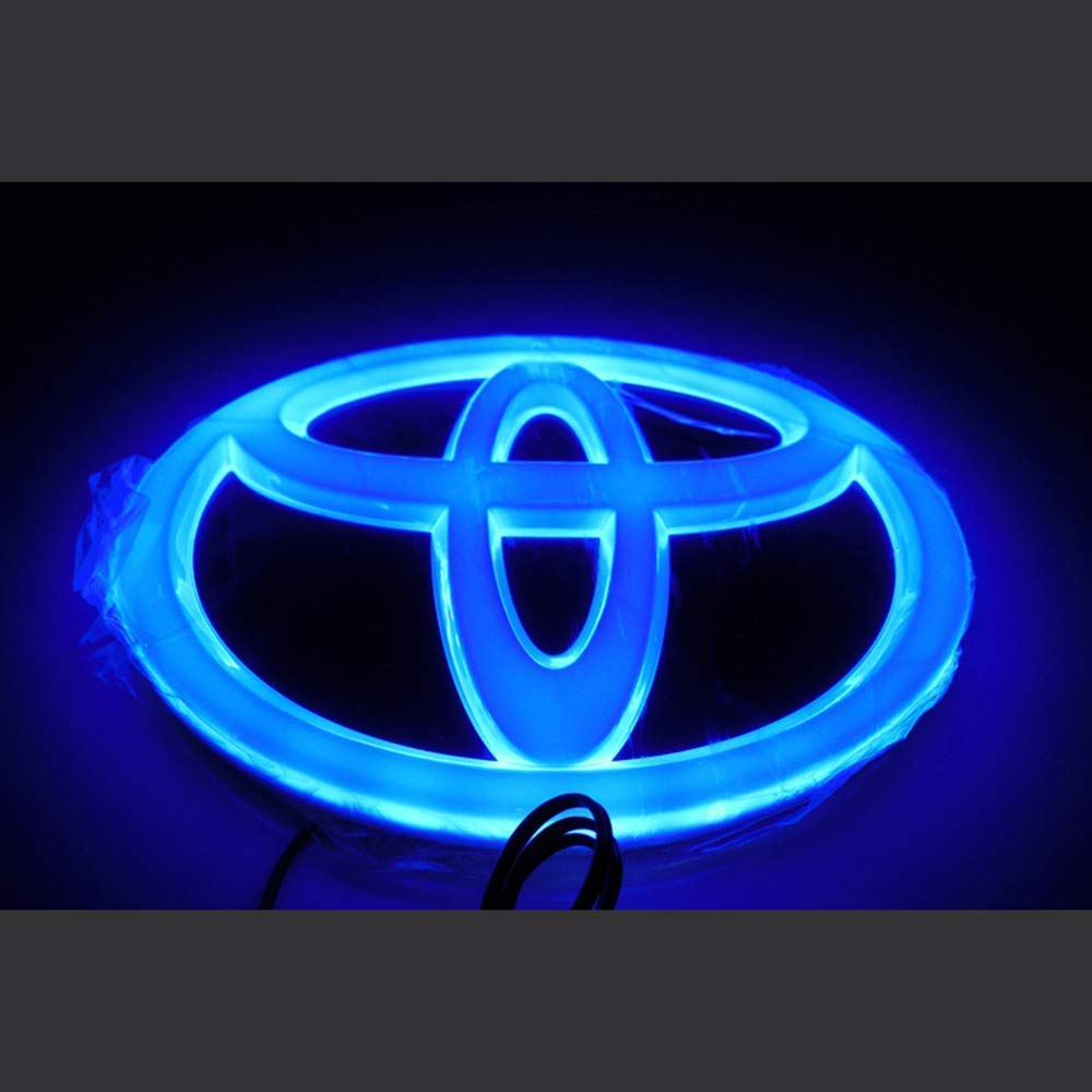 WEICHUANG Blue FRONT GRILL RADIATOR LED Lamp Emblem FOR TOYOTA COROLLA