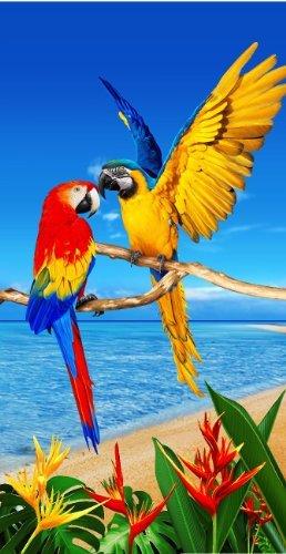 - Jungle Macaw Parrot Amazon Wonder Cacatoe Beach Towels