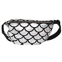 LABANCA Women's Shoulder Bag Fish Scale Pattern Waist Bag Crossbody Bag Coin Purse Fanny Pack