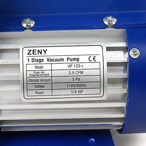 ZENY 3.5CMF 1/4HP Electric Vacuum Pump Refrigerant R134a HVAC Deep Vane Air Conditioner w/1/4'' Flare Inlet Port (3.5CFM)