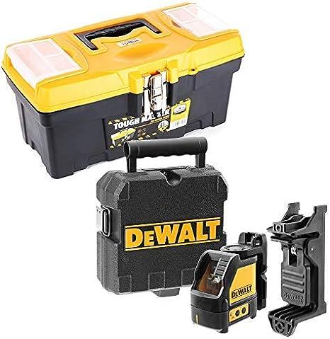 Dewalt DW088K - Nivel láser de línea cruzada con caja de almacenamiento de herramientas de 41 cm: Amazon.es: Bricolaje y herramientas