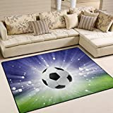 ALAZA Abstract Sport Soccer Ball Area Rug Rugs for Living Room Bedroom 7' x 5'