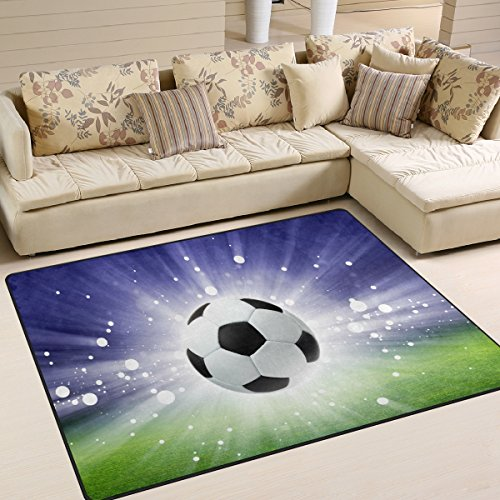 ALAZA Abstract Sport Soccer Ball Area Rug Rugs for Living Room Bedroom 7' x 5' by ALAZA