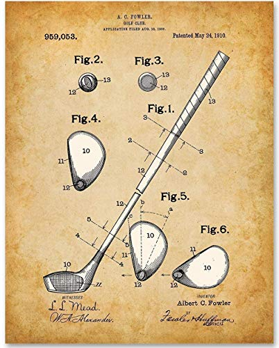 Golf Balls Shop - Golf Club - 11x14 Unframed Patent Print - Makes a Great Gift Under $15 for Golfers
