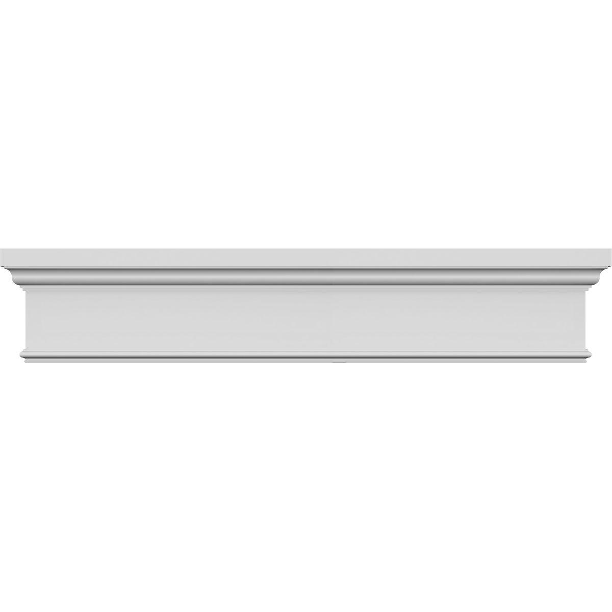 Ekena Millwork CRH14X57ST 57'' Bottom 62 1/4'' Top Width x 13 3/4'' H x 7/8'' P Standard Crosshead, Width Width, Factory Primed White by Ekena Millwork