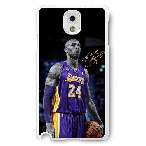 Onelee(TM) - Customized White Hard Plastic Samsung Galaxy Note 3 Case, NBA Superstar Lakers Kobe Bryant Samsung Galaxy Note 3 Case