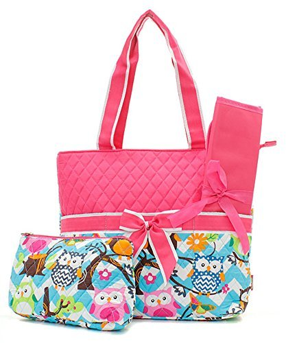 quilted owl diaper bag - 9