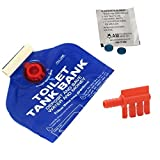 Toilet Water Saving Devices - Toilet Tank Bank, Toilet Fill Cycle Diverter, Toilet Leak Detection Dye Tablets