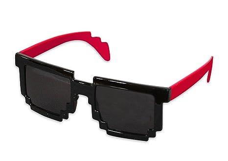 De Pixeles Sol Neon Muelles Con Color Gafas Estribo Rojo rWdCQoexBE
