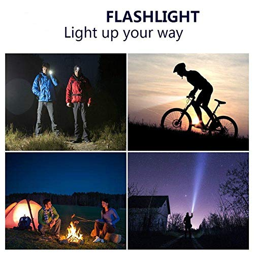 Tchin LED Flashlight Outdoor Night Riding Portable Lighting Three Adjustable Light Rechargeable Flashlight by Tchin (Image #2)