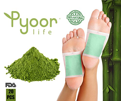 Foot Pads | Better Sleep, Impurity Remover | 100% Natural Green Tea, Foot Care | Aromatherapy| Energy Boost | Pain Relief | Tension Reliever | Health Care | Cleanse | 20 Foot Patch Pack Aromatherapy Patches