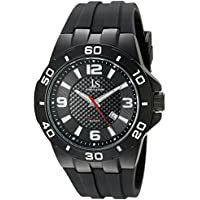 Joshua & Sons JX115 Men's Quartz Date Sporty Silicone Strap Watch (Multiple Colors)