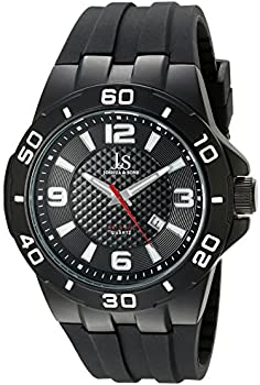 Joshua & Sons JX115 Men's Quartz Sporty Silicone Strap Watch