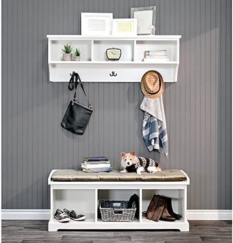 Epoch Design Brookwood Bench and Wall Unit, White